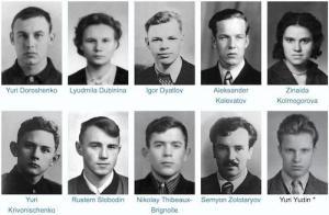Membri del gruppo di Dyatlov